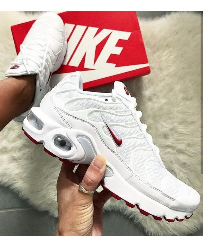 5c7ab8f97b Nike Air Max Tn Classic White Varsity Red | Sneakers in 2019 | Shoes ...