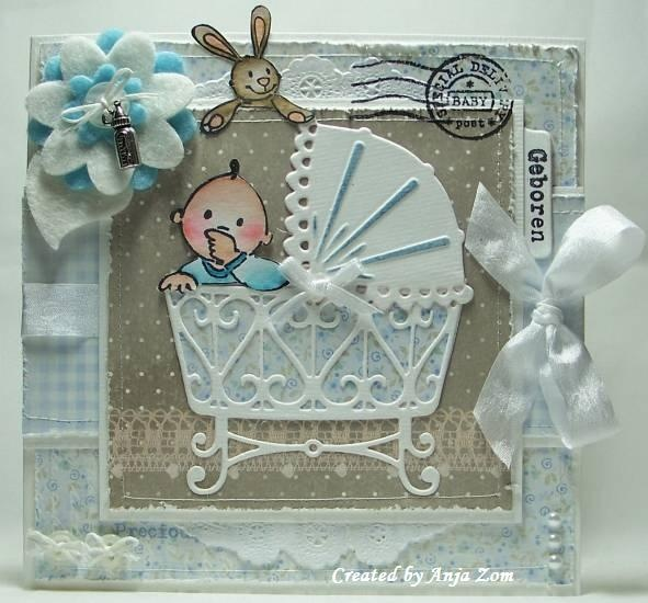 Precious card using Marianne Designs