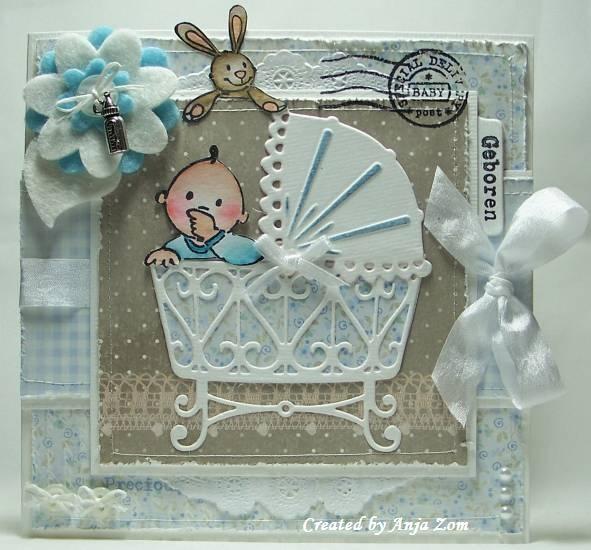 Precious card using Marianne Designs