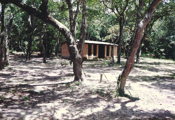 The play hut down at the river. 1993
