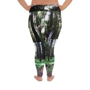 Redwood forest Print Plus Size Leggings 11