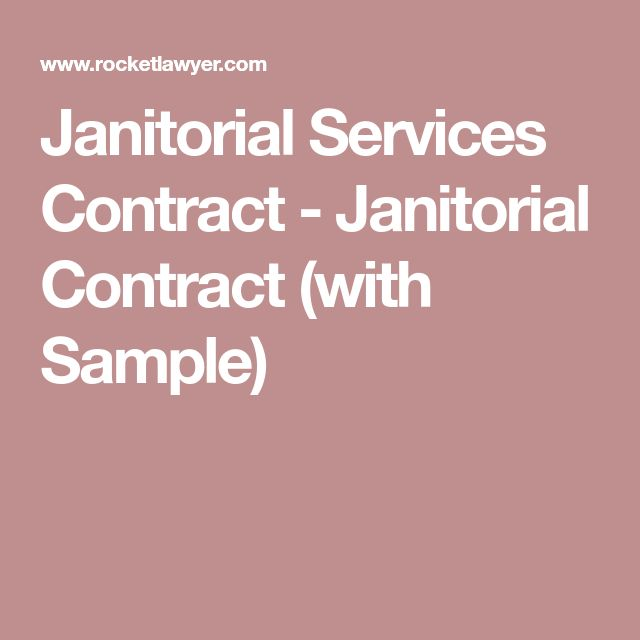 Best 25+ Janitorial ideas on Pinterest Janitorial cleaning - contract of services sample