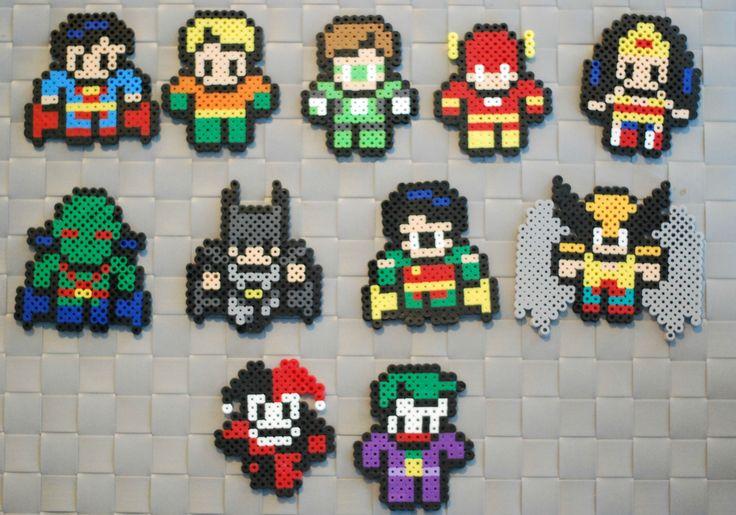 DC Comics perler bead sprites by srhgrc