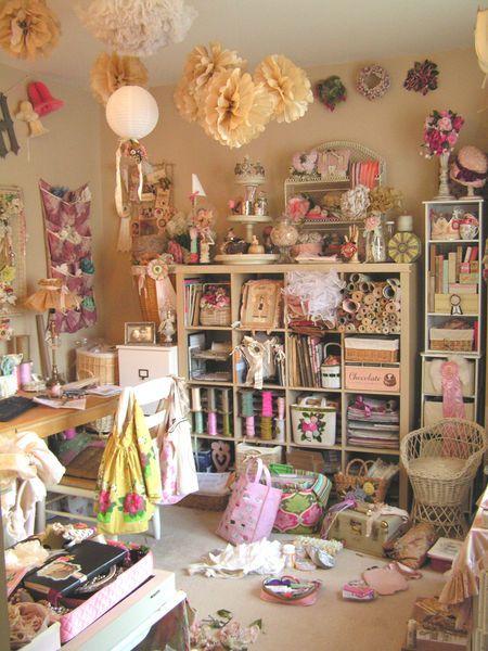 Craft room...By: Velvetstrawberries (Andrea Singaretta)