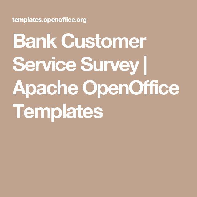 Bank Customer Service Survey | Apache OpenOffice Templates