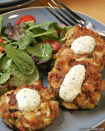 Our favorite crab cakes.  You can't really find affordable jumbo lump crab in Ohio, but canned crab actually tastes great in these.  I also like to use panko instead of breadcrumbs.
