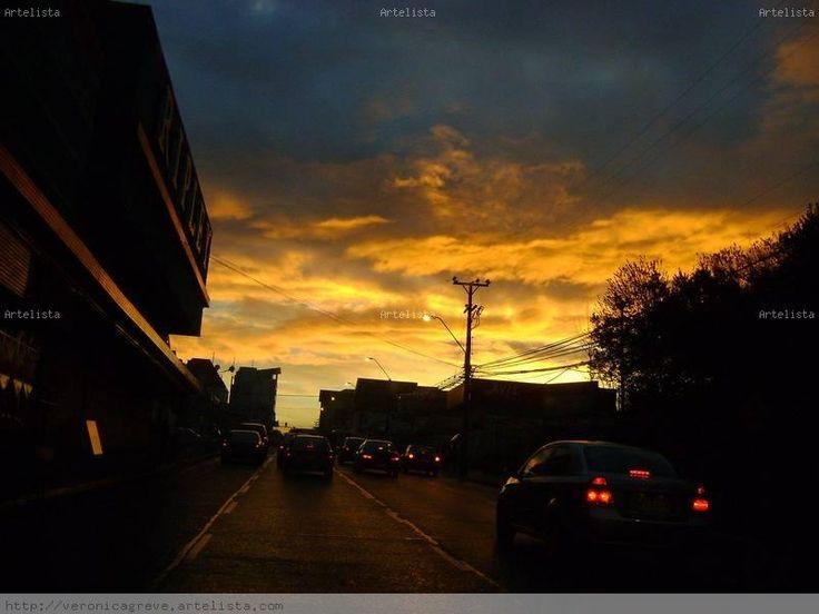 calles de la ciudad por la tarde