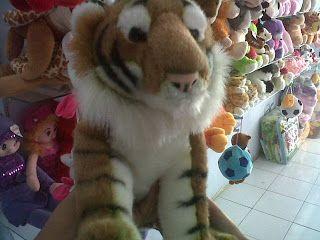 boneka harimau binatang lucu