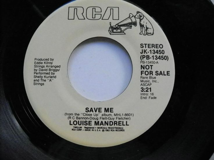 PROMO LOUISE MANDRELL 45 RPM SAVE ME DEMO COUNTRY RCA RECORDS JK-13450 NM 1983  #ContemporaryCountryTraditionalCountry