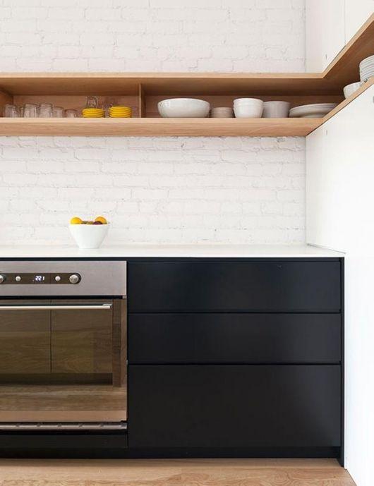 black modern rustic kitchen 2