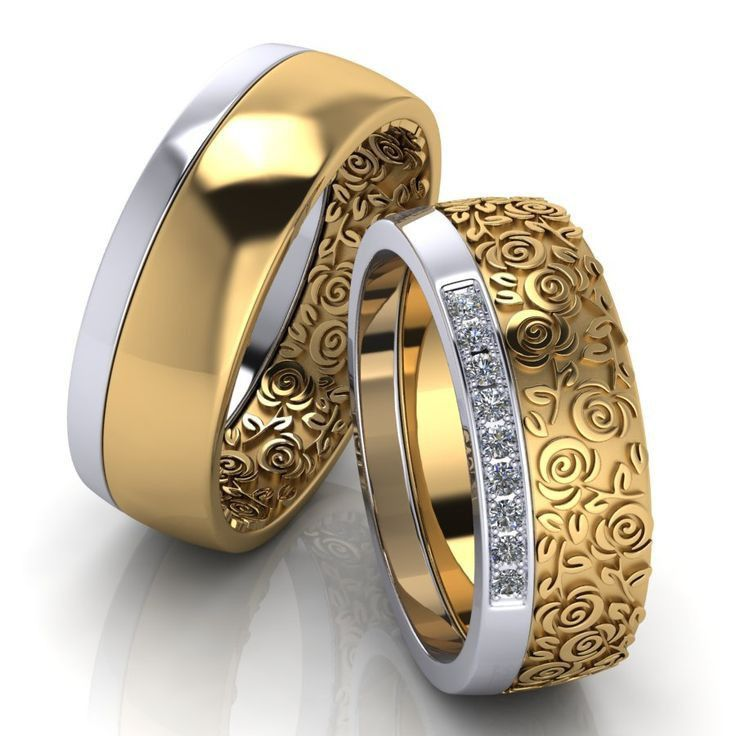 Pin By Sudha On Outfit Accessories In 2020 Mens Wedding Rings Gold Jewelry Bracelets Silver Couple Wedding Rings
