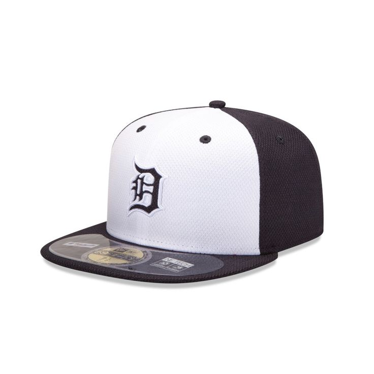 Detroit Tigers New Era MLB Diamond Era 59Fifty Home Fitted Hat (White)