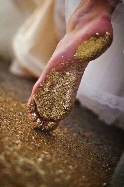 Walking on sunshine & glitter