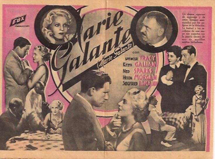 Marie Galante- Starring Spencer Tracy, Ketti Gallian (1934)