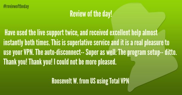 Review of the day! See all the reviews here: http://www.ibvpn.com/reviews/?c=all