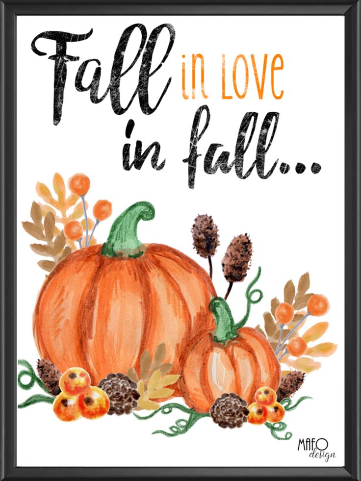 Plakat projektu MAFOdesign Fall in love in fall... do kupienia tylko na www.mafodesign-sklep.pl #poster #autumn #fall #autumnposter #design #interior