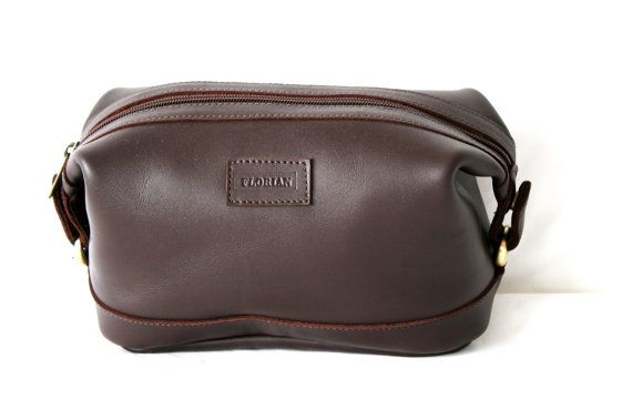 Mens Leather Toiletry Bag  Travel bag New Zealand by AnoaDesignLtd