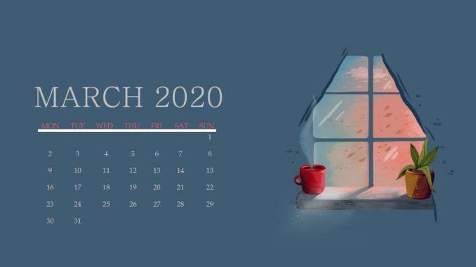 Floral March 2020 Wall Calendar Cute Wallpaper For Desktop Laptop