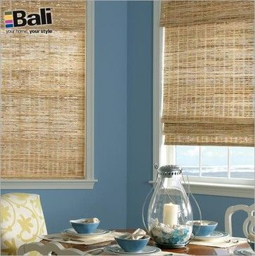 Bali Deluxe Woven Wood Shades from Blinds.com in Grasses Summer contemporary-roman-blinds