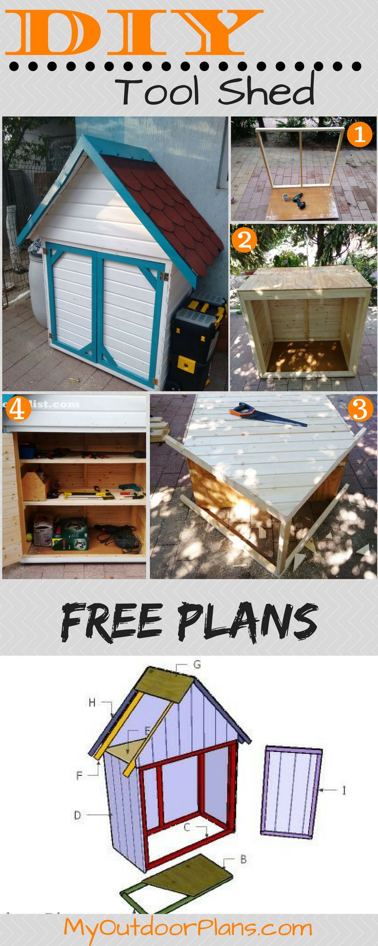 how to build a small tool shed