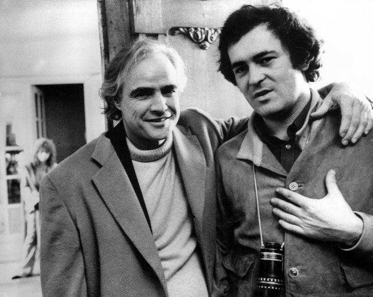 Marlon Brando and Bernardo Bertolucci on the set of LAST TANGO IN PARIS (1972)
