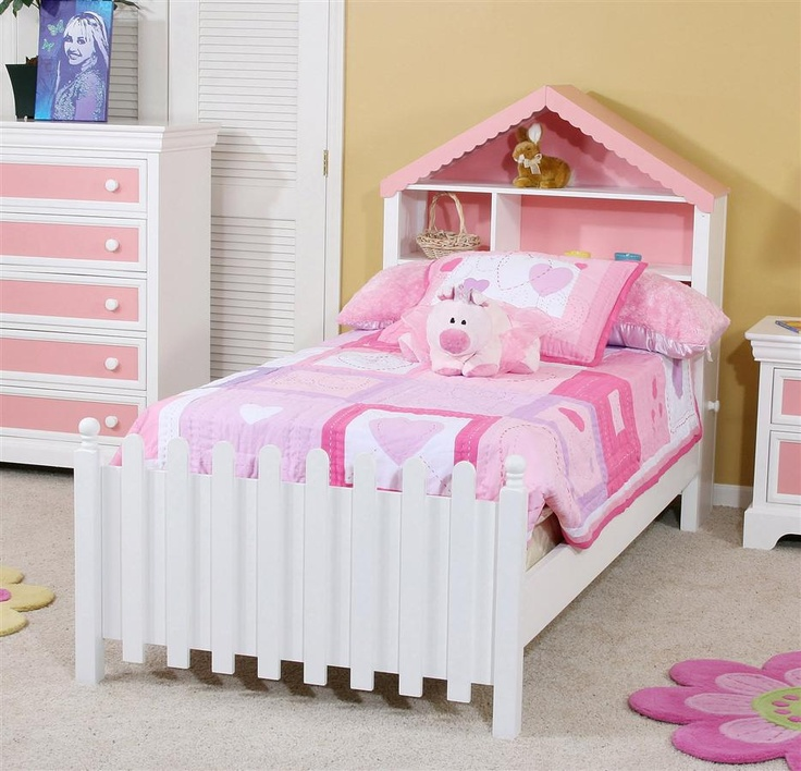 Twin Size Bed W Dollhouse Headboard Amp Picket Fence