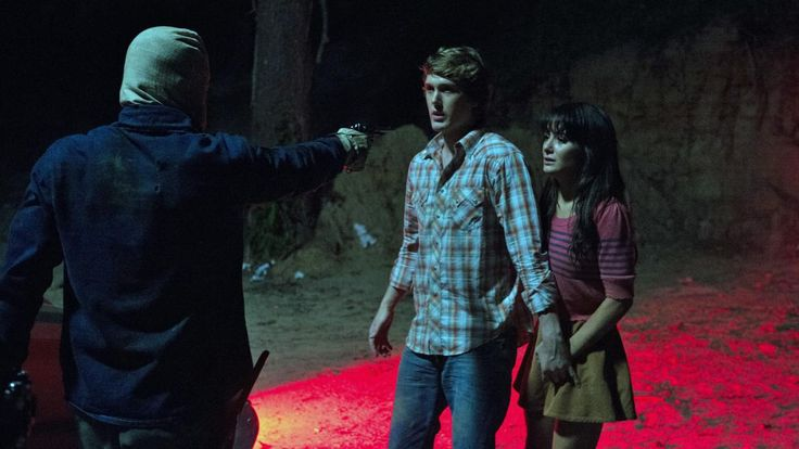 Addison Timlin and Spencer Treat Clark in The Town That Dreaded Sundown