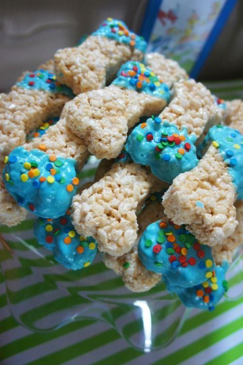 Dog Bone Rice Krispie Treats and Littlest Pet Shop Party Ideas on Frugal Coupon Living.