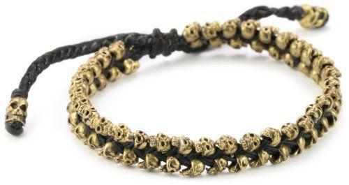 M.Cohen Hand made Designs Mini Brass Skulls Braided on Wax Cord M.Cohen Handmade Designs. $200.00