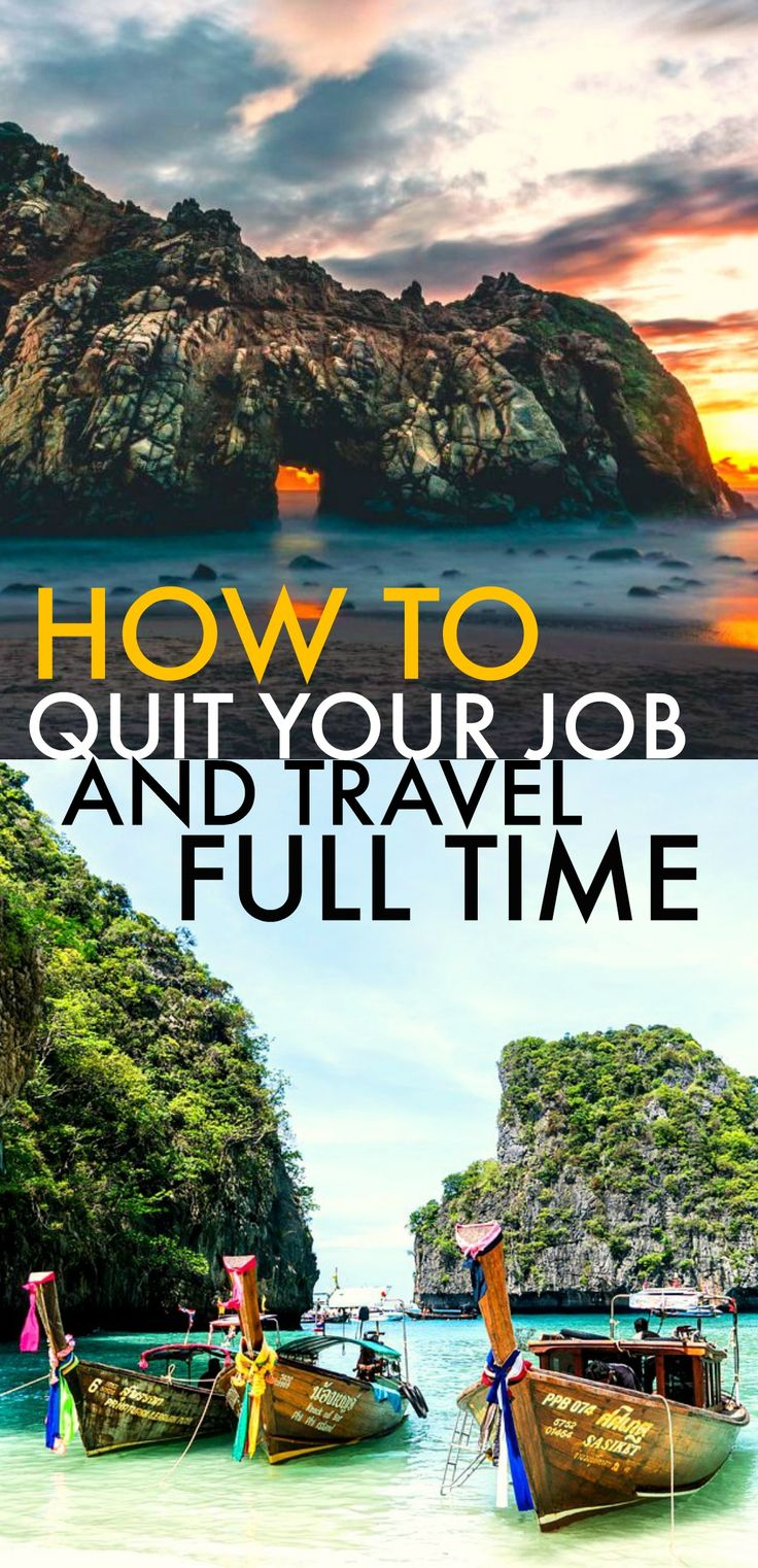 These 8 tips on quitting your job to travel full time are AMAZING! I'm so glad I found this post! I've already started on a few of them and I'm SO MUCH CLOSER to traveling than I EVER was! Such a great read, I am SO pinning for later!