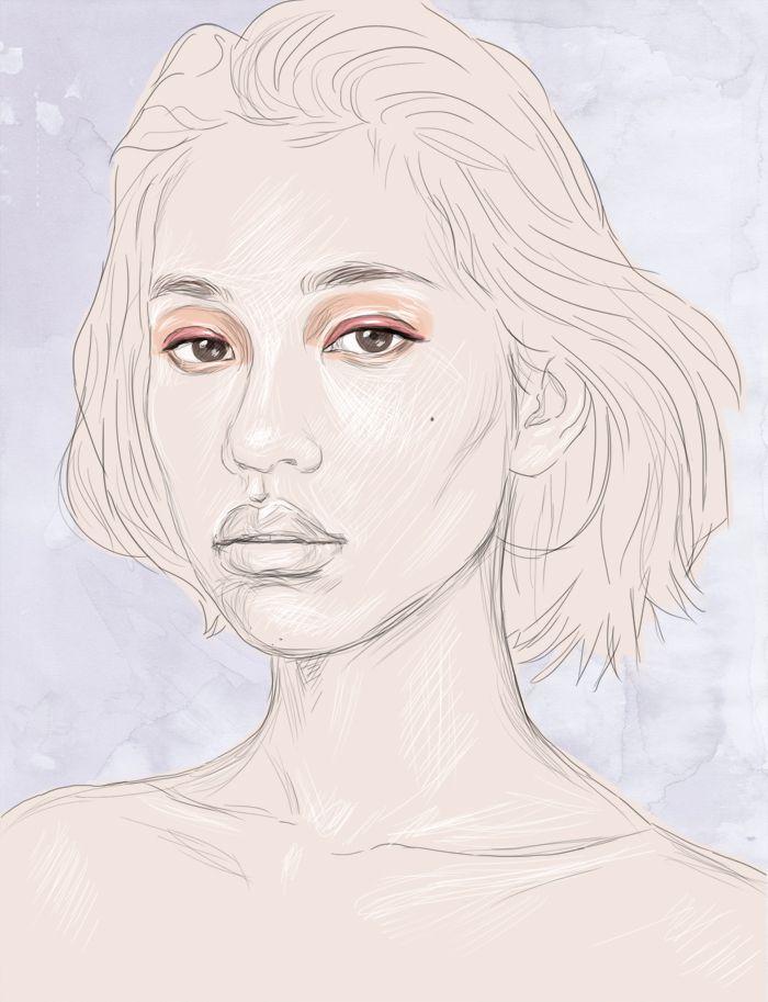 KIKO  Digital artwork by Phaedra Seven.  #kiko #mizuhara #kiko #digital #art #painting #illustration #portrait #custom #drawing #sketch #phaedra #seven
