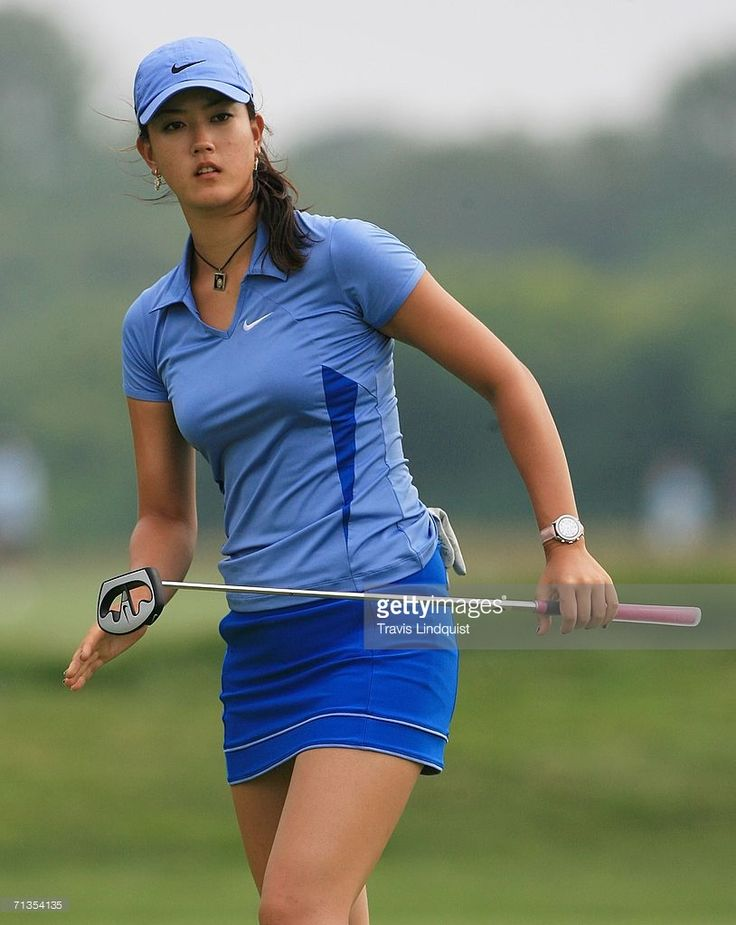Michelle Wie watches a putt during the final round of the 2006 Women's U.S. Open at Newport Country Club on July 2, 2006 in Newport, Rhode Island.