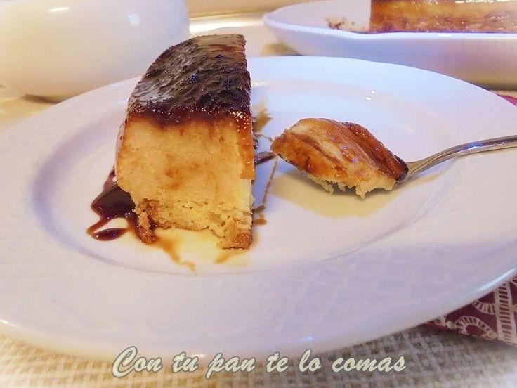 Pudin de piña: la forma más deliciosa de sacar partido a las sobras de pan. La receta es del blog CON TU PAN TE LO COMAS.