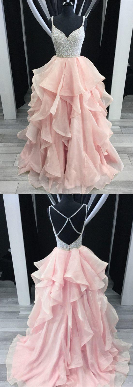 的 sparkly pretty tulle vneck long prom dresses the newest