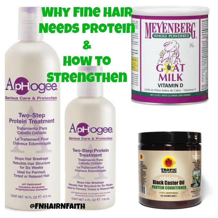 protein for fine natural hair  -  Types of Protein                                                                                                                                                     More