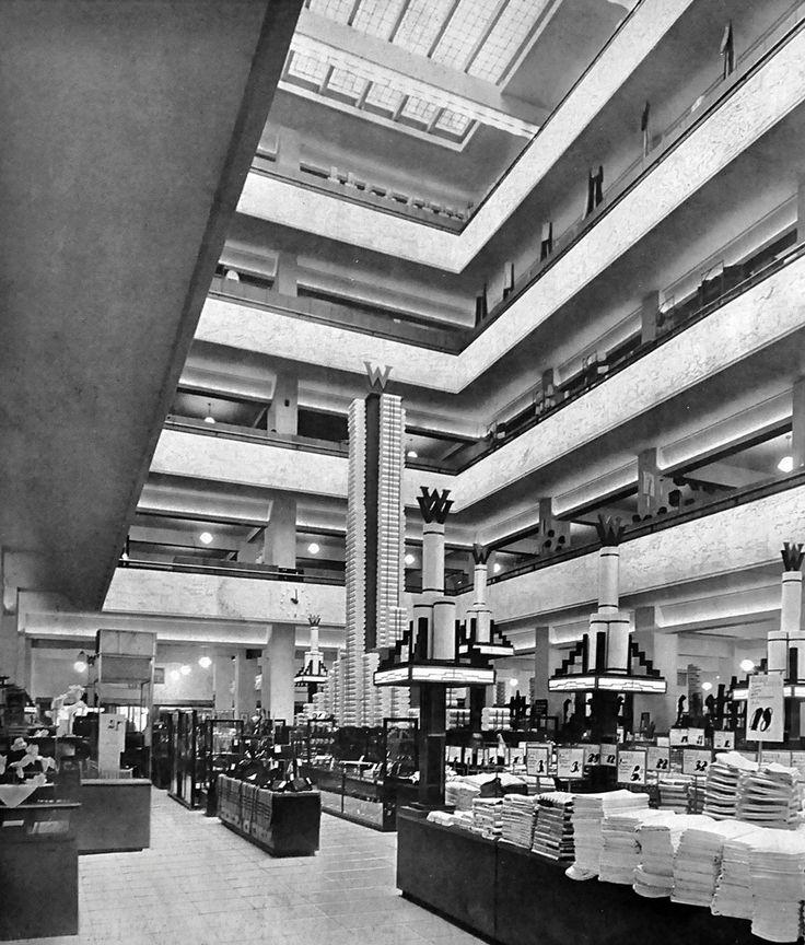 Magazijn de Bijenkorf, Willem Dudok, Rotterdam 1930 - 1960