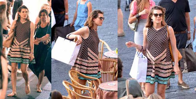 Charlotte Casiraghi in Missoni a Capri