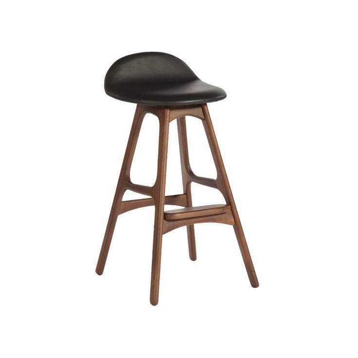 american walnut counter stool dot and bo - Modern Counter Stools