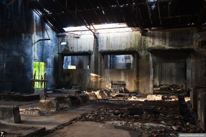 Abandoned Pepsi factory in Cambodia