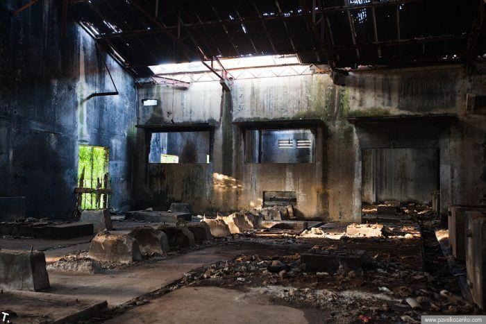 Abandoned Pepsi factory in Cambodia