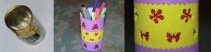Video tutorial para hacer porta lápices con lata reciclada. Transformacion completa de lata de aceitunas, en objeto bonito, útil y original