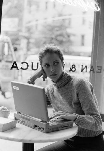 If I'm not reading, I'm playing or writing on the computer. :-) #ChristyTurlington #TopModel #Fashion