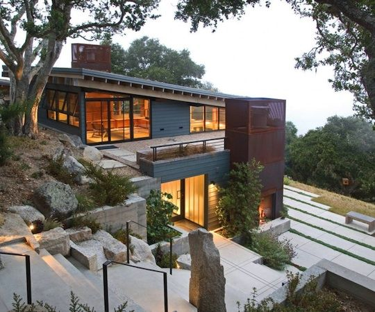 Two Hillside Cabins In The Trees By Feldman Architecture: 43 Best House On Slope Images On Pinterest