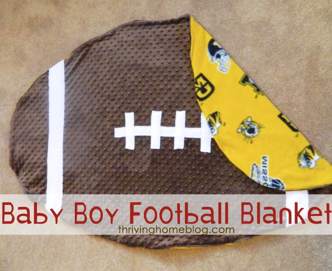 Baby Boy Football Blanket Tutorial someone can totally make this in psu for me;)