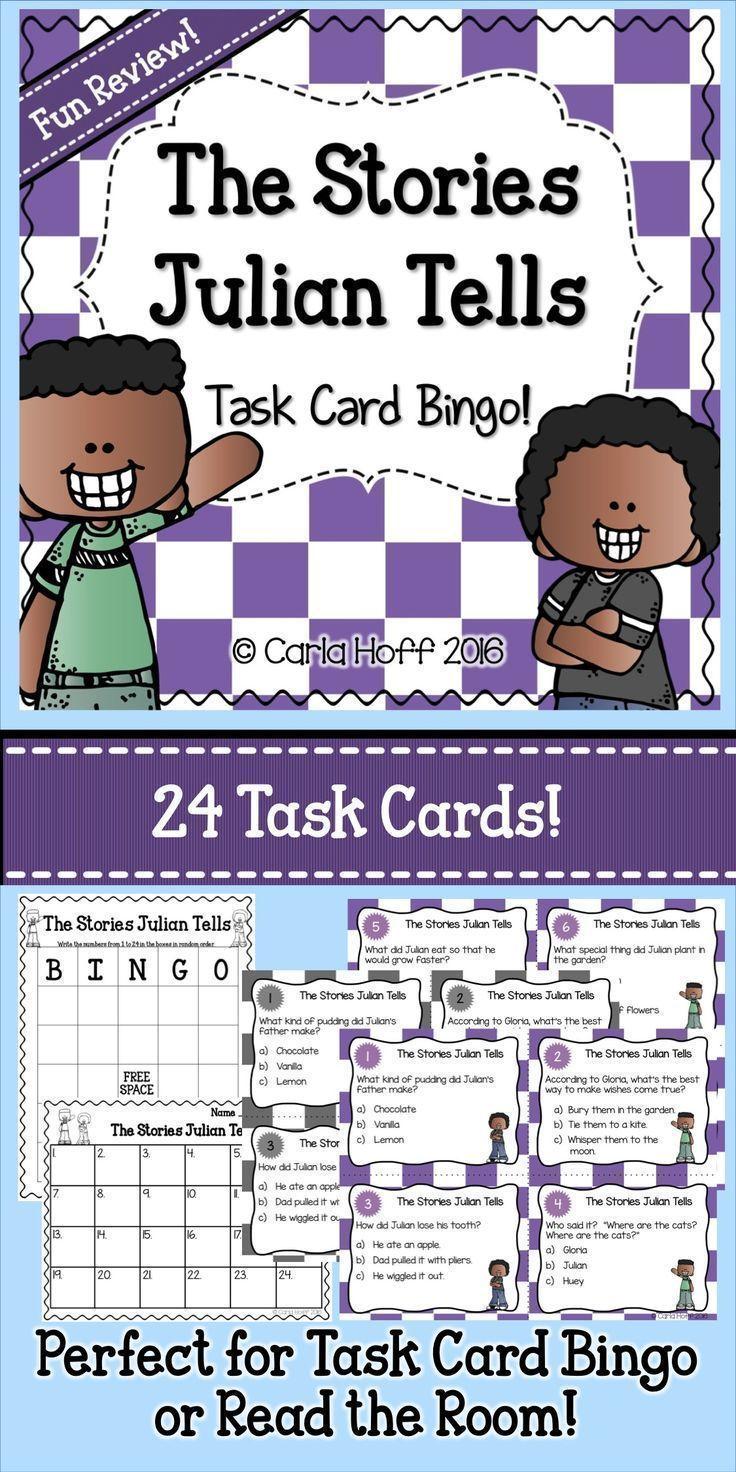 worksheet The Stories Julian Tells Worksheets 9 best the stories julian tells images on pinterest teaching task cards