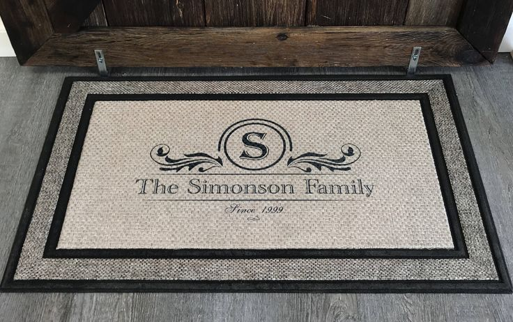 Personalized Door Mat, Custom Door Mat, Personalized Welcome Mat, Wedding Gift, Personalized Doormat, Door Mat, Housewarming gift, Family