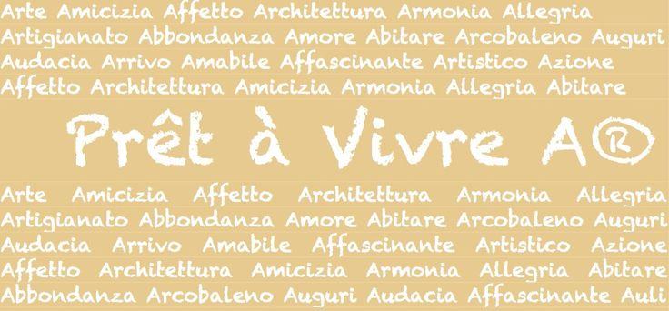 Il back-drop del logo e' una composizione di alcune delle cose piacevoli della vita che iniziano con la lettera A come del resto tutti i modelli di Prêt á Vivre che iniziano con la lettera A perché sono cose piacevoli da indossare!