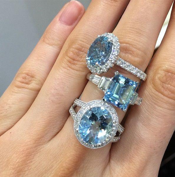 Aquamarine & diamond dress ring designs #diamodnsinternational #brisbane #diamonds #LoveDI #wedding #marryme #fashion