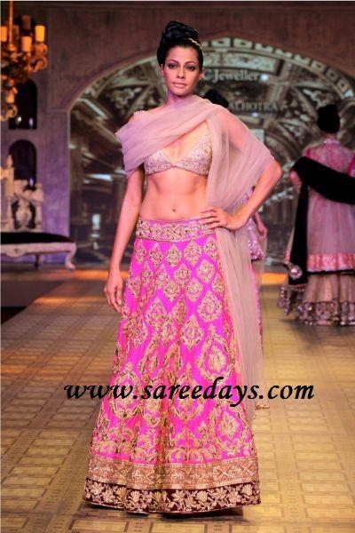 Latest Saree Designs: manish malhotra designer bridal lehenga collection at DCW 2012