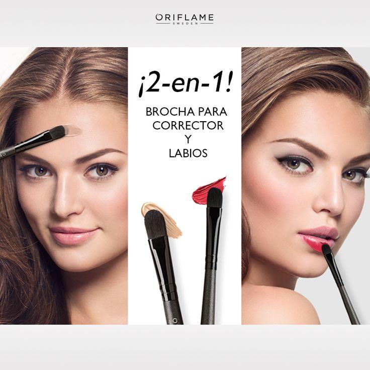 Ideal para #definir y #delinear tus labios o para aplicar corrector. Esta brocha profesional es la herramienta ideal que no podrá faltar en tu cosmetiquera. #Labios #Ojos #MakeUp #Corrector